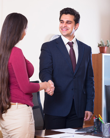 recruit help: Chief manager hiring assistant after job interview on permanent basis