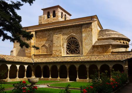 san pedro: Church of San Pedro de la Rua at Estella-Lizarra. Navarre,   Spain Stock Photo