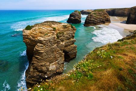 spain: Cliffs at Cantabric coast of Spain.  Galicia
