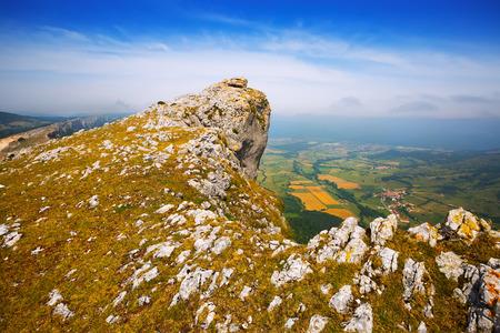 navarre: Lizarraga peak  of Sierra de Andia. Navarre,  Spain