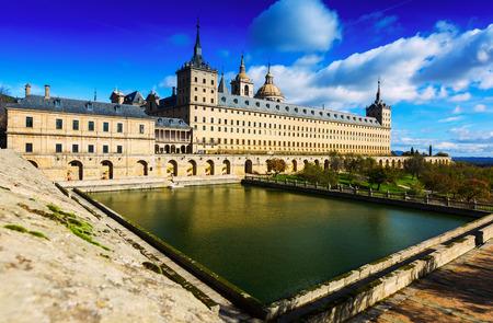 Royal Palace: El Escorial.  Royal Palace in sunny november day. Spain