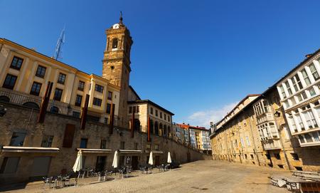 spanish homes: Day view  of historic part of  Vitoria-Gasteiz.   Spain
