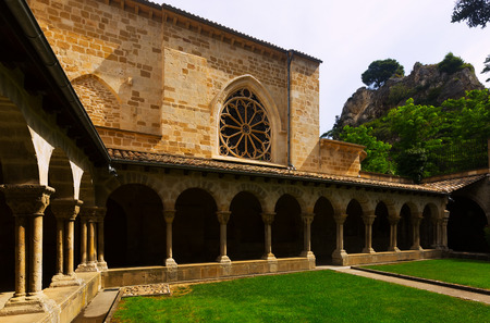 san pedro: Church of San Pedro de la Rua at Estella. Navarre,   Spain Stock Photo