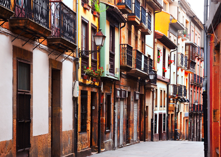 olden day: street at historic part of Oviedo. Asturias, Spain Stock Photo