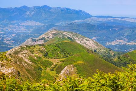 europa: Asturian  mountains from high point. Picos de Europa, Spain