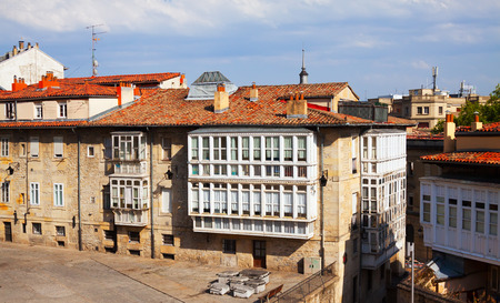 gasteiz: Dwelling houses in historic part of  Vitoria-Gasteiz.  Basque Country, Spain