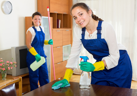 houseman: Professional happyspanish cleaners cleaning in room