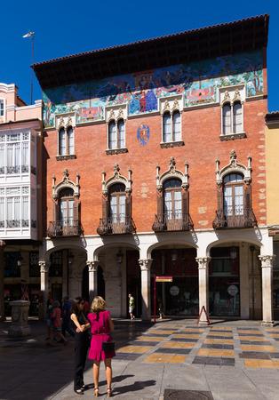 arroyo: PALENCIA, SPAIN - JUNE 27, 2015: College Villandrando: remarkable building on Calle mayor Street by Jerome Arroyo and Daniel Zuloaga. Palencia Editorial