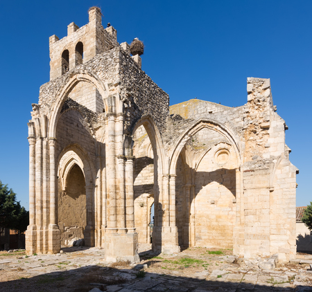 palencia province: Ruins of  Church of Santa Eulalia in Palenzuela.  Province of Palencia