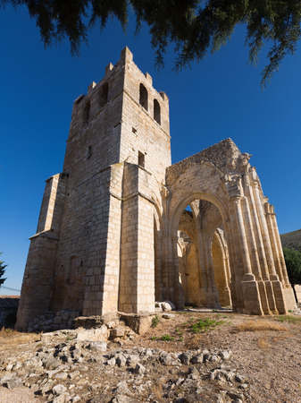 palencia province: Abandoned of the  Church of Santa Eulalia. Palenzuela.  Province of Palencia,  Spain