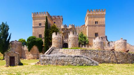 castello medievale: Castello medievale di Ampudia nella soleggiata giornata estiva. Palencia, Spagna