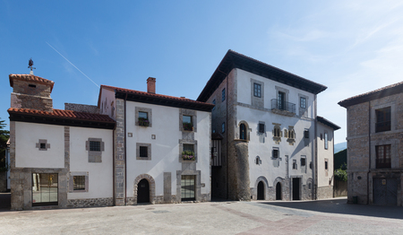 olden day: Square at old part of Llanes. Asturias, Spain