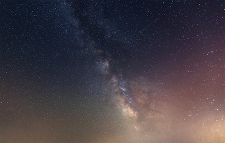 nighty: Space. Nighty sky with many stars during summer  night Stock Photo