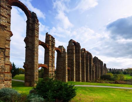 acueducto: old roman aqueduct at Merida. Spain