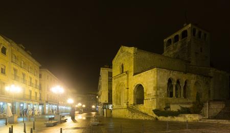 holy trinity: night view of Church of  Holy Trinity. Segovia, Spain Stock Photo
