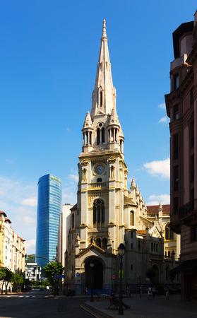 san jose: BILBAO, SPAIN - JULY 4, 2015: San Jose church in  Bilbao. Spain
