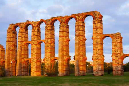 merida: old roman aqueduct at Merida. Spain