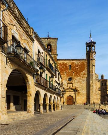 TRUJILLO, SPAIN - NOVEMBER 18, 2014: View of Plaza Mayor in Trujillo, Caceres Editorial