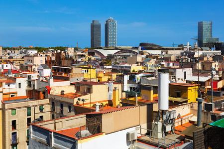 gotico: ver a los rascacielos del distrito histórico de Born. Barcelona, ??Cataluña