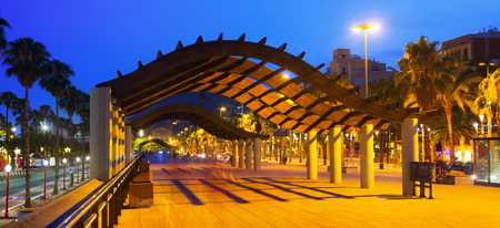 columb: Barcelona embankment in evening time