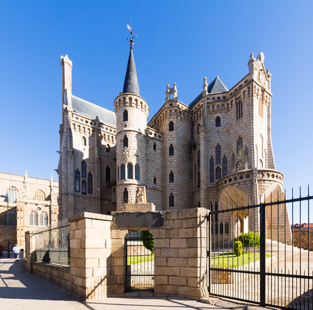 Episcopal Palace of Astorga, was built 1889-18915) in Modernism style  by Antoni Gaudi. Leon,  Castile and Leon, Spain