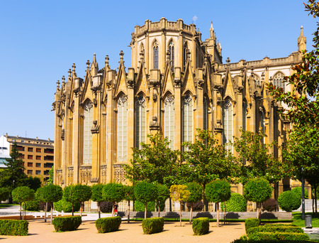 gasteiz: Day view of Cathedral of Mary Immaculate (New Cathedral). Vitoria-Gasteiz, Spain