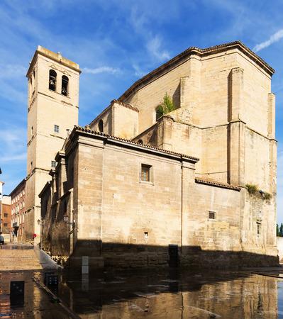 way of st  james: Church of Santiago el Real in Logrono. Rioja Stock Photo