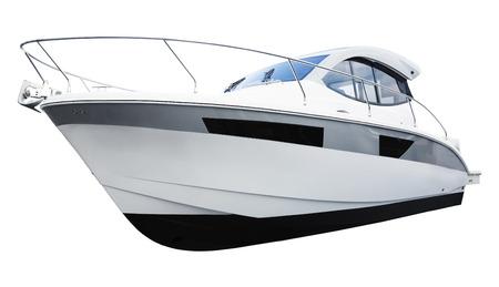 motor boat: New motor motor boat. Isolated over white background Stock Photo