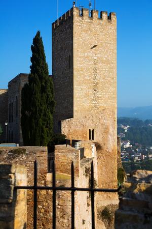 ebre: Suda castle in Tortosa. Catalonia Editorial