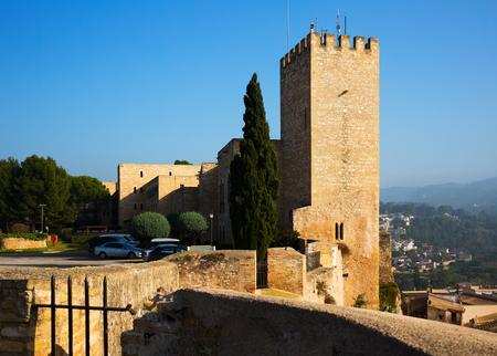ebre: View of Suda castle in Tortosa. Catalonia, Spain