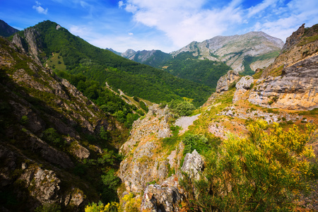 castile and leon: Rocky landscape in summer. Province of Leon,   Castile and Leon, Spain