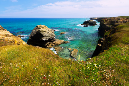 galicia: Rocky coast of Spain.  Galicia