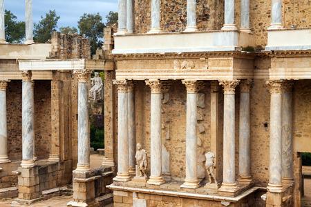 extremadura: Roman Theatre at Merida. Extremadura,  Spain