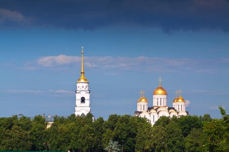 vladimir: Assumption cathedral  at Vladimir in summer. Russia