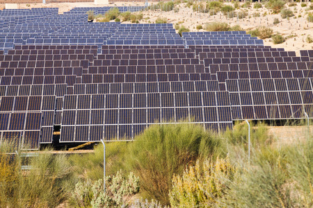 electric system: energy production: electric solar panel system