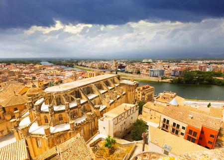 ebre: Tortosa from Suda castle. Catalonia, Spain
