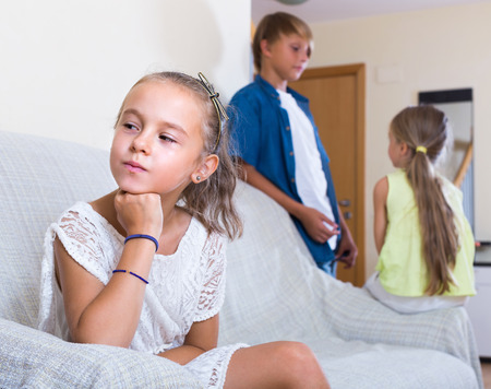 unfaithfulness: Offended little girl is jealous sister of teenage stepbrother