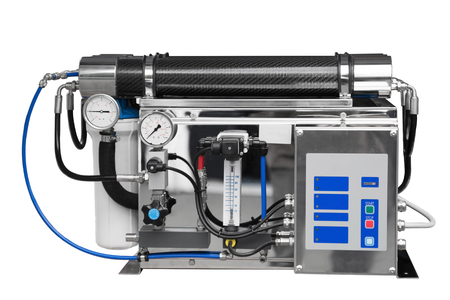 livelihoods: Reverse industrial water clean equipment. Isolated over white background Stock Photo