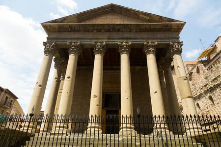 Roman temple: Vista del templo romano de Vic