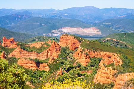 castile and leon: Las Medulas is historical site near  Ponferrada. Province of Leon, Castile and Leon, Spain
