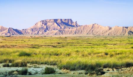 navarra: desert landscape of Navarra in summer. Spain Stock Photo