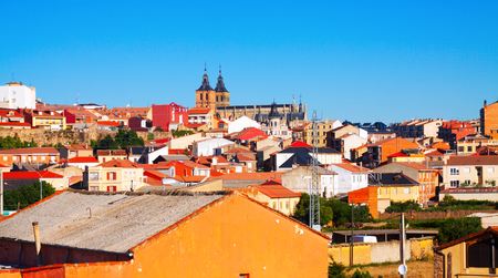 leon: General view of spanish town. Astorga, Castile and Leon, Spain