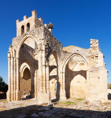 castile and leon: Ruins of  Church of Santa Eulalia in Palenzuela. Castile and Leon, Spain