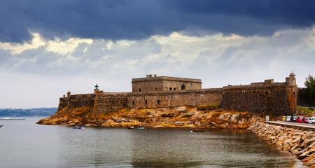 anton: View of San Anton Castle in  A Coruna. Spain