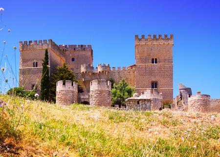palencia province: Castle of  Ampudia.   Province of Palencia, Spain