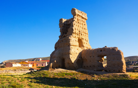 castile and leon: ruined castle of Palenzuela.  Province of Burgos, Castile and Leon, Spain