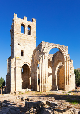 palencia province: Ruins of the Church of Santa Eulalia in Palenzuela.  Province of Palencia,   Spain