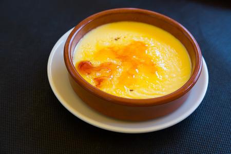 crema: crema catalana - dessert also known as Trinity cream or  burnt cream