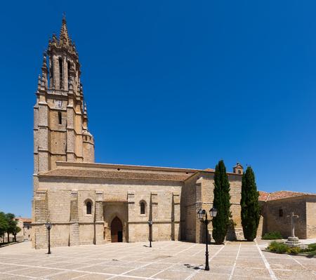 castile: Collegiate Church of San Miguel in Ampudia.   Castile and Leon, Spain