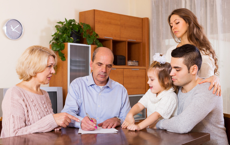 60 65: serious family members with bills and without money at home